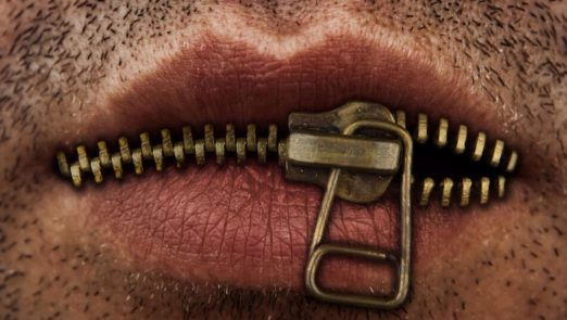 Zipper-on-the-mouth