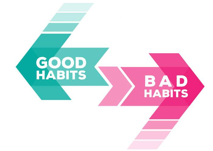 Please do not think about breaking good habits!