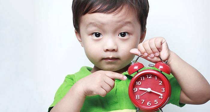 How is the understanding the concept of time by children?