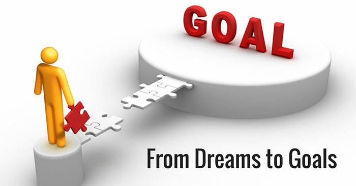 between goals and dreams